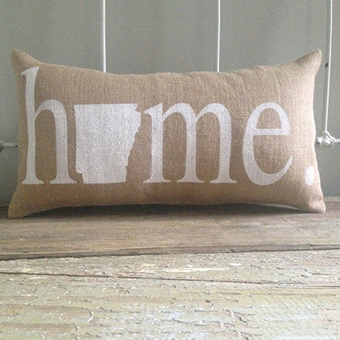 "Arkansas ""Home"" Pillow"