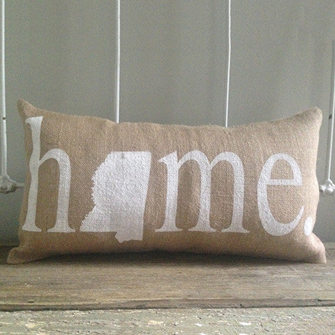 "Mississippi ""Home"" Pillow"
