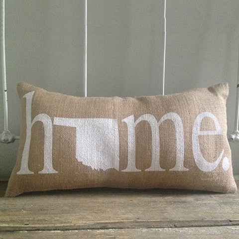 "Oklahoma ""Home"" Pillow"