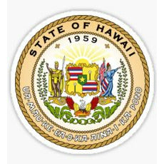 State of Hawaii Seal Decal State Seal Sticker State of Hawaii Sticker TUA
