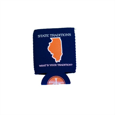 Illinois Champaign Gameday Koozie Navy