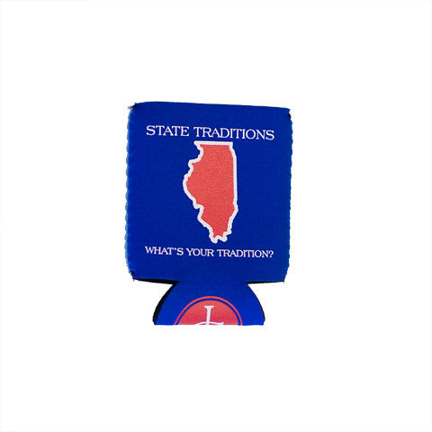 Illinois Wrigleyville Gameday Koozie Blue