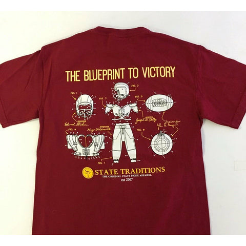 Blueprint to Victory T-Shirt Garnet and Gold