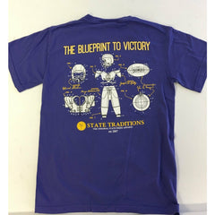Blueprint to Victory T-Shirt Purple and Gold