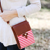 Texas Crossbody Bag Red and White
