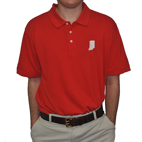 Bloomington Gameday polo, Red Polo, 3 button, Cotton Polo, Indiana Gameday, Perfect Polo, IN Pride, Indiana State Pride, Hoosier State