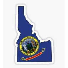 Idaho State Flag Sticker, Idaho Flag Sticker, Idaho Decal, Idaho State Crest, Idaho Potato, Sun Valley Idaho, Sticker, Decal