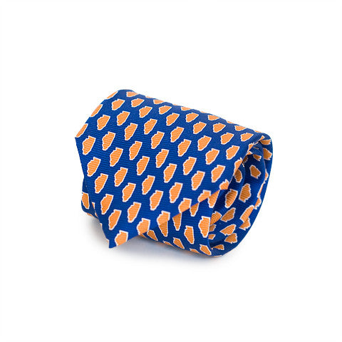 Illinois Champaign Gameday Tie Blue