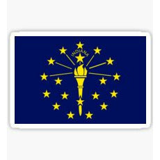 Indiana Flag Sticker State of Indiana
