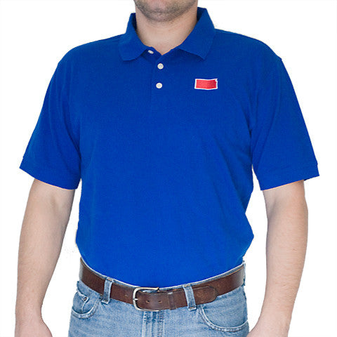 Kansas Lawrence Gameday Polo Blue