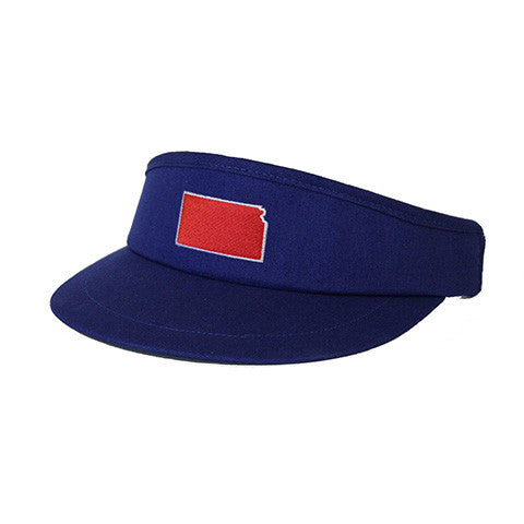 Kansas Lawrence Gameday Golf Visor Blue