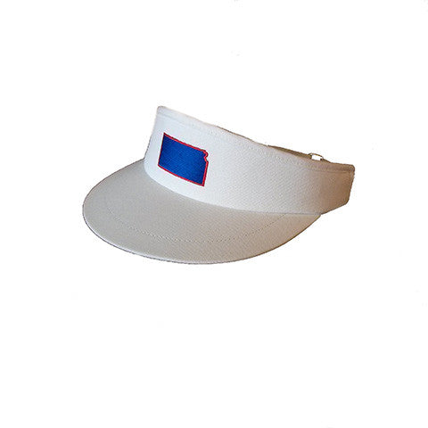 Kansas Lawrence Gameday Golf Visor White