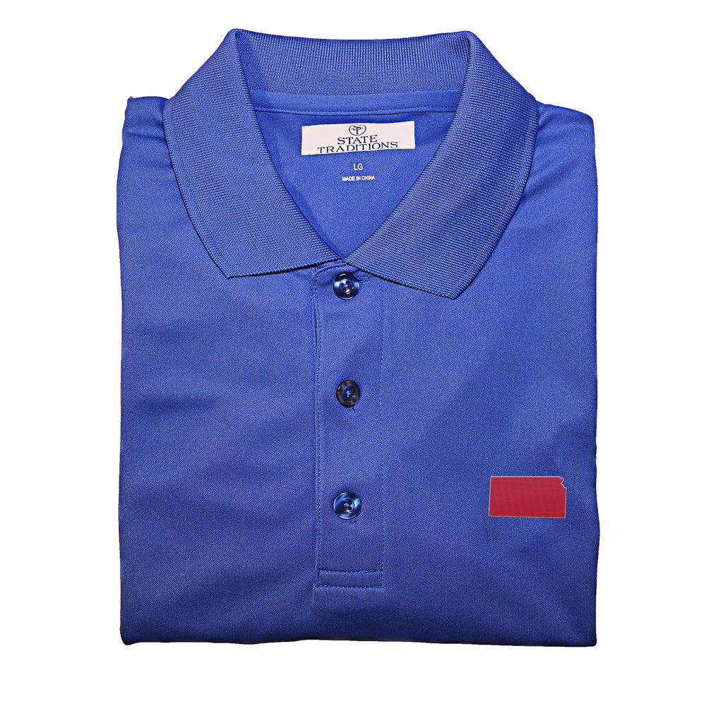 Kansas Lawrence Gameday Performance Polo
