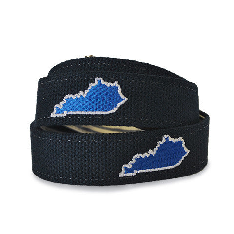 Kentucky Lexington Gameday Embroidered Belt Navy