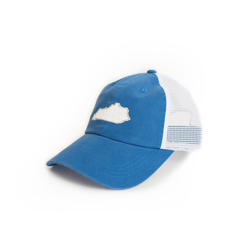 Kentucky Lexington Gameday Blue Trucker Hat Side View