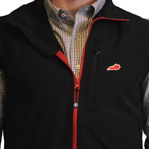 Kentucky Louisville Soft Shell Vest Black with Red Trim