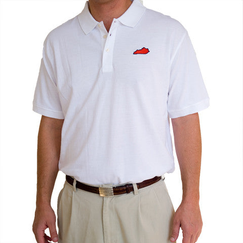 Kentucky Louisville Gameday Polo White