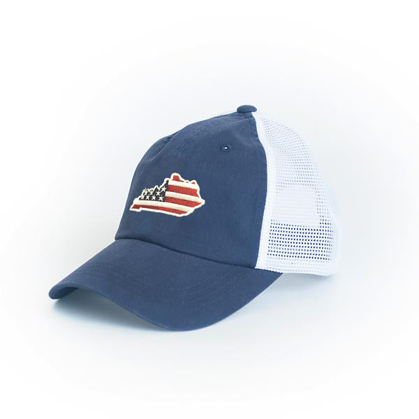 Kentucky Patriot Trucker Hat Blue
