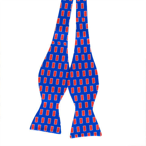 Kansas Lawrence Gameday Bow Tie Blue