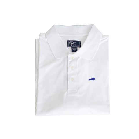 Kentucky Lexington Clubhouse Performance Polo White