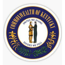 Commonwealth of Kentucky sticker State of Kentucky Crest State of Kentucky Seal Kentucky Sticker Kentucky Decal Country Club Prep Kentucky