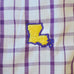 Louisiana Baton Rouge Gameday Tattersall Long Sleeve Shirt