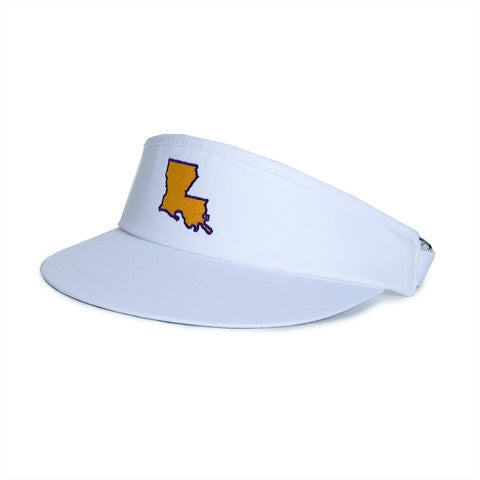 Louisiana Baton Rouge Gameday Golf Visor White