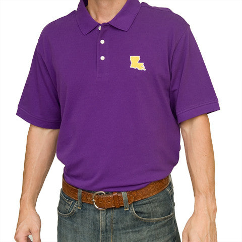 Louisiana Baton Rouge Gameday Polo Purple
