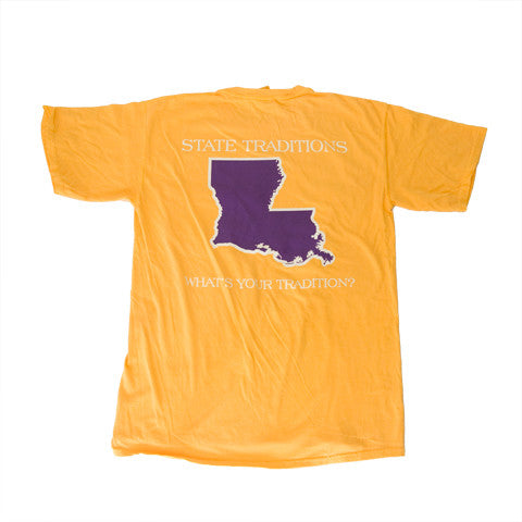Louisiana Baton Rouge Gameday T-Shirt Gold