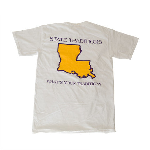 Louisiana Baton Rouge Gameday T-Shirt White