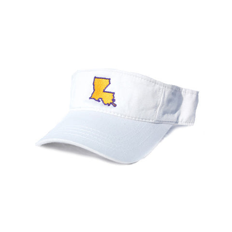 Louisiana Baton Rouge Gameday Hat Visor White