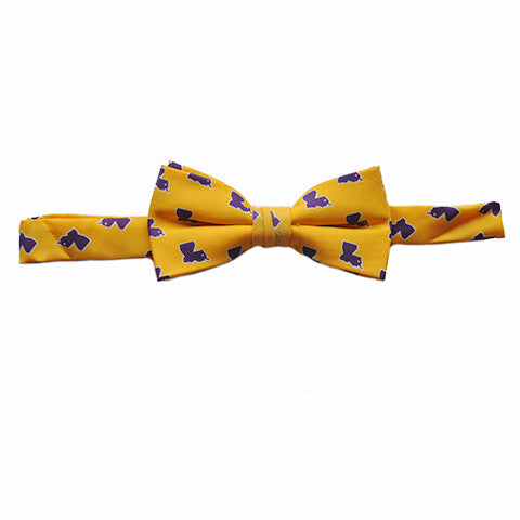 Louisiana Baton Rouge Gameday Youth Bow Tie Gold