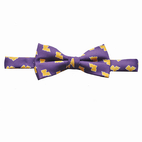 Louisiana Baton Rouge Gameday Youth Bow Tie Purple