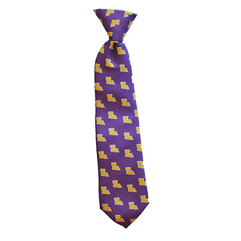 Louisiana Baton Rouge Gameday Youth Tie Purple