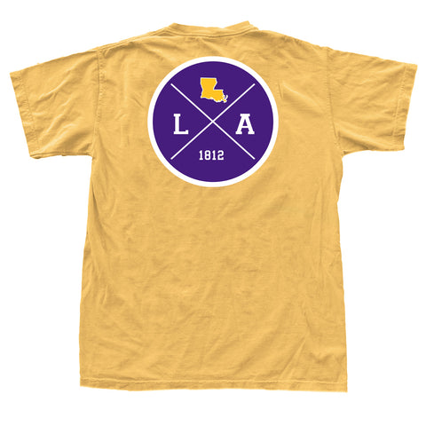 Louisiana Gameday Crossing T-Shirt Purple and Gold