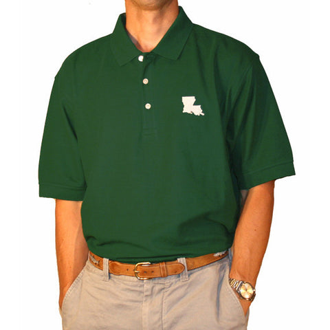 Louisiana New Orleans Gameday Polo Green