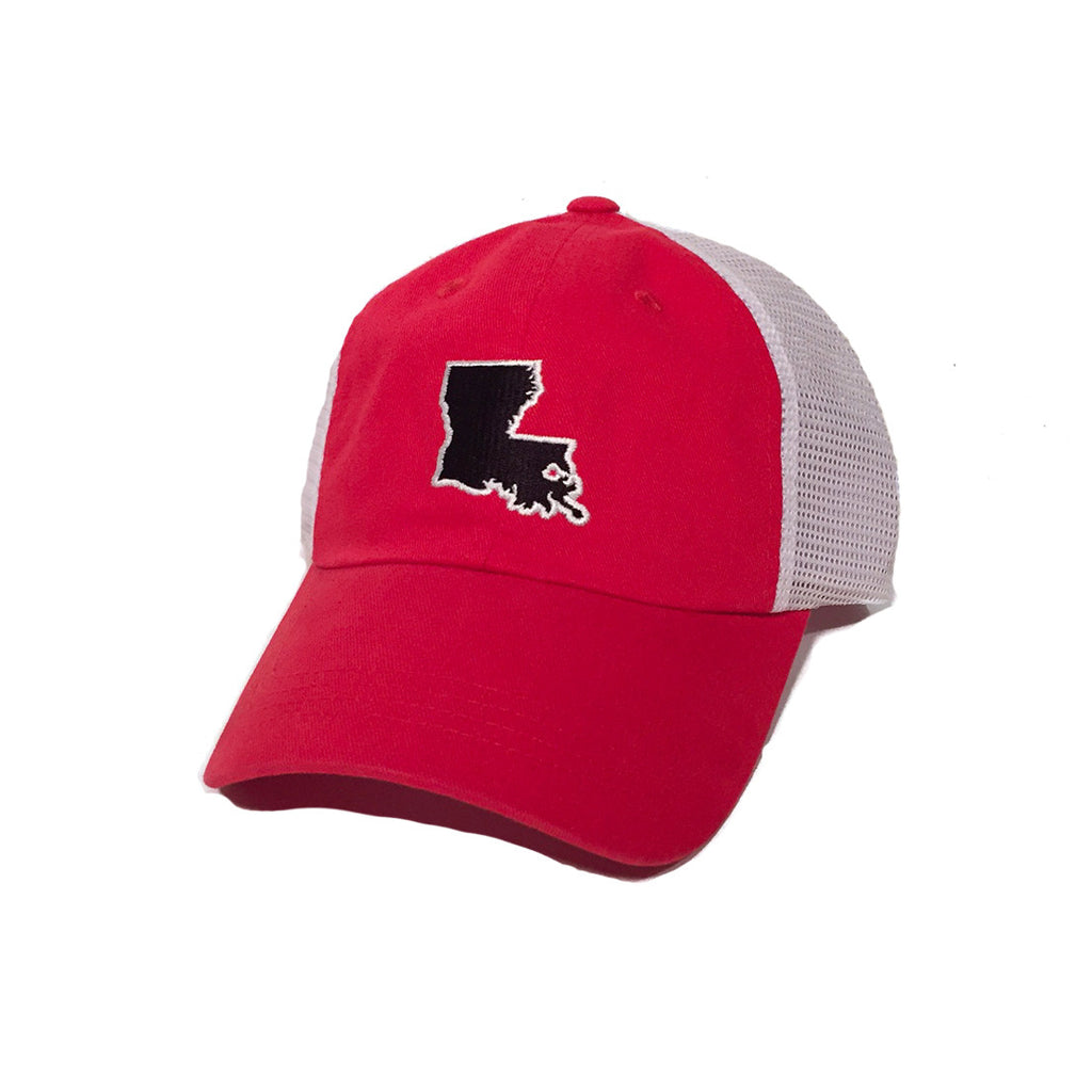 Louisiana Lafayette Gameday Trucker Hat Red