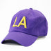 "Louisiana ""LA"" State Letter Acronym Hat Purple"