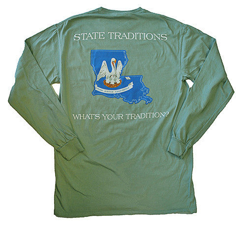 Louisiana Traditional Long Sleeve T-Shirt Bayou