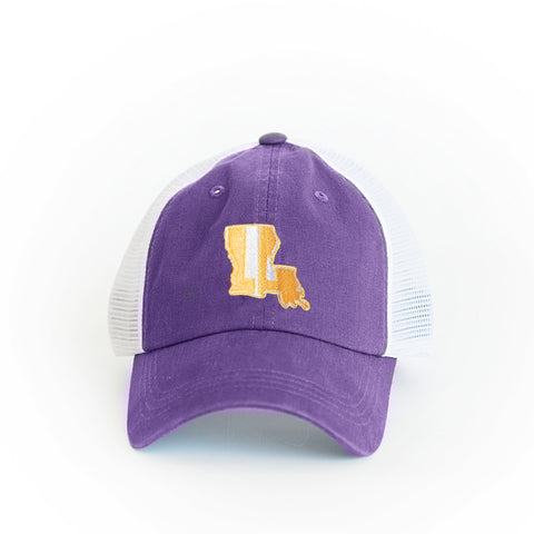 Louisiana State Hat Purple