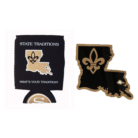 Who Dat Koozie + Sticker Bundle