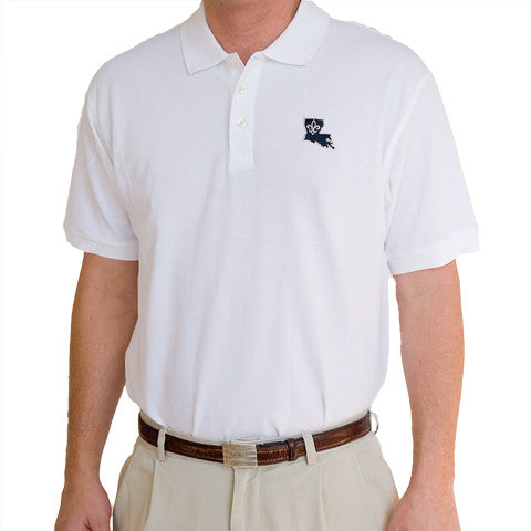 Louisiana Who Dat Polo White