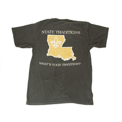 Louisiana Who Dat T-Shirt Black