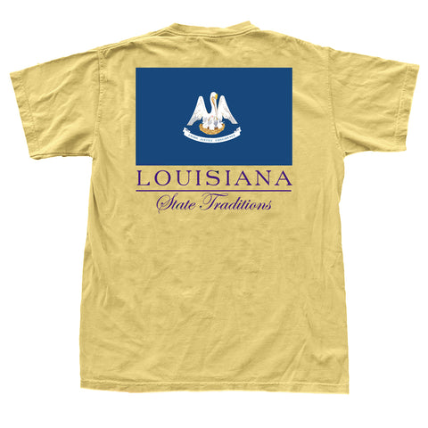 Louisiana State Flag T-Shirt Gold