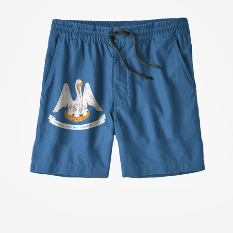 Louisiana State Flag Swim Trunks