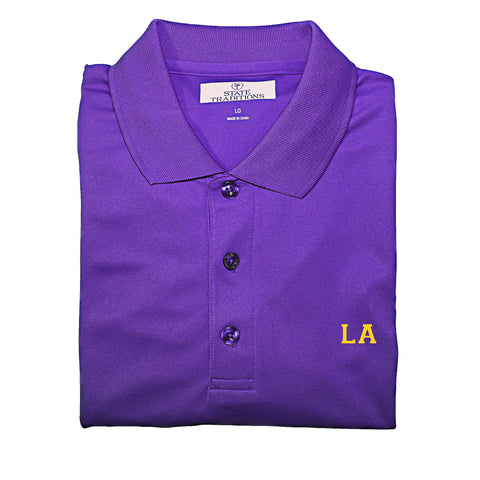 Louisiana Golf Polo purple