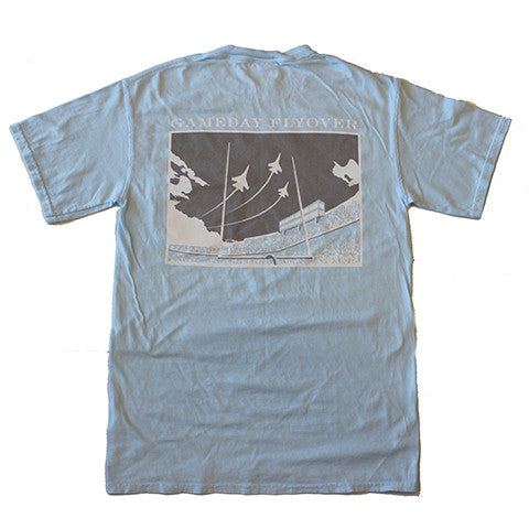 State Traditions Gameday Flyover T-Shirt Light Blue and Grey