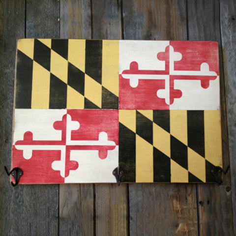 Maryland Flag Hat Rack