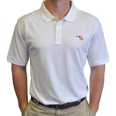Maryland Traditional Polo White