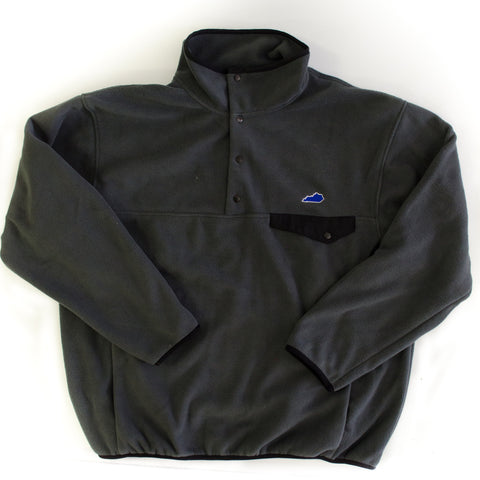 Kentucky Lexington Fleece Pullover Grey and Black
